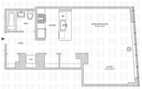floorplan for 164 Kent Avenue #4T