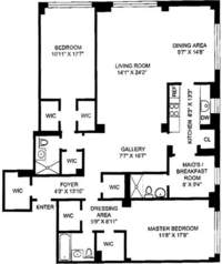 floorplan for 200 East 57th Street #4B