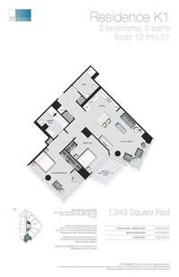 floorplan for 77 - Hudson Street #1510