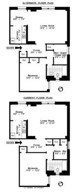 floorplan for 157 West 79th Street #7B