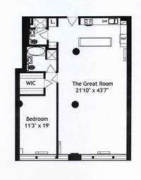 floorplan for 252 Seventh Avenue #5V