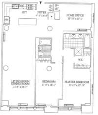 floorplan for 252 Seventh Avenue #9U