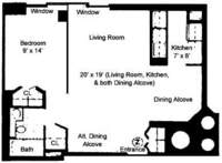 floorplan for 61 West 62nd Street #18N