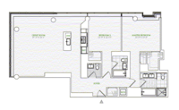 floorplan for 1 River Terrace #26E
