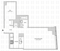 floorplan for 164 Kent Avenue #16J