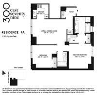 floorplan for 300 East 79th Street #4A