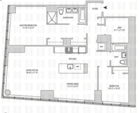 floorplan for 164 Kent Avenue #6A