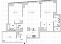 floorplan for 164 Kent Avenue #28N