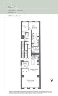 floorplan for 8 Warren Street #2EAST