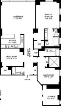 floorplan for 130 West 30th Street #5B