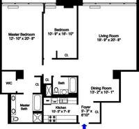 floorplan for 252 Seventh Avenue #11F