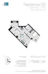 floorplan for 77 - Hudson Street #2907