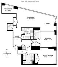 floorplan for 10 West Street #15A