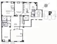 floorplan for 435 East 52nd Street #15C