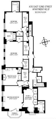 floorplan for 435 East 52nd Street #23F