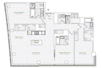 floorplan for 1 River Terrace #6H