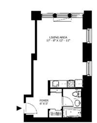 floorplan for 150 Nassau Street #6K
