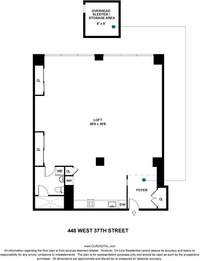 floorplan for 448 West 37th Street #6F