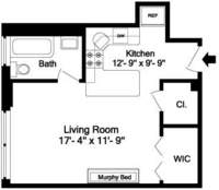 floorplan for 205 East 78th Street #17E