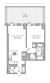 floorplan for 101 Warren Street #540