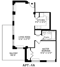 floorplan for 2021 First Avenue #6A