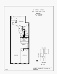 floorplan for 25 Murray Street #3F