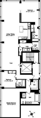 floorplan for 40 Mercer Street #9W