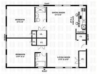 floorplan for 49 West 72nd Street #14AB