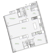 floorplan for 1 River Terrace #7T