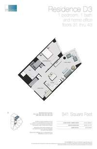 floorplan for 77 - Hudson Street #4104