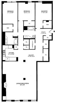 floorplan for 35 North Moore Street #4B