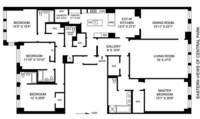 floorplan for 15 Central Park West #11B