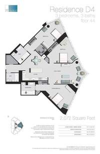 floorplan for 77 - Hudson Street #4404