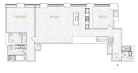 floorplan for 1 River Terrace #15A