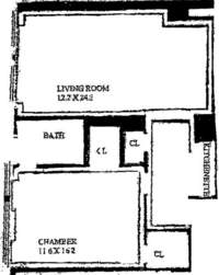 floorplan for 205 East 78th Street #8C