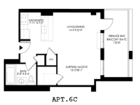 floorplan for 2021 First Avenue #6C