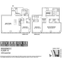floorplan for 1 River Terrace #14E