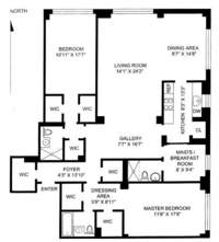 floorplan for 200 East 57th Street #12B