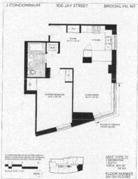 floorplan for 100 Jay Street #8H