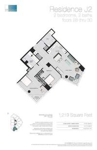 floorplan for 77 - Hudson Street #2809