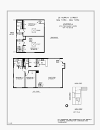 floorplan for 25 Murray Street #PH10G