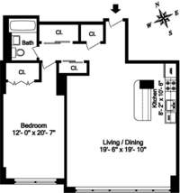 floorplan for 7 East 14th Street #1109