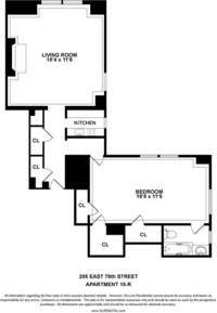 floorplan for 205 East 78th Street
