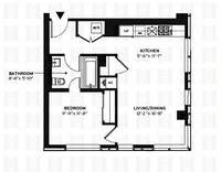 floorplan for 150 Myrtle Avenue #1206