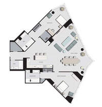 floorplan for 77 Hudson Street #D7