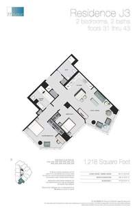 floorplan for 77 - Hudson Street #3309