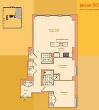 floorplan for 114 East 32nd Street #503