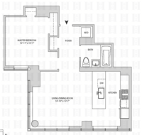 floorplan for 164 Kent Avenue #8F