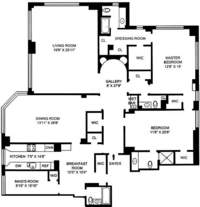 floorplan for 200 East 57th Street #17D