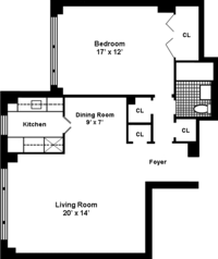floorplan for 167 East 67th Street #8F